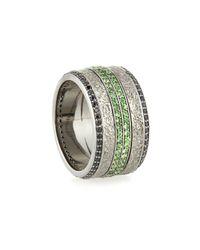 Stephen Webster | Green Men's Sapphire & Tsavorite Ring for Men | Lyst
