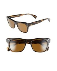 7e7dbdd91a Lyst - Oliver Peoples  jack Huston  52mm Vfx Plus Sunglasses in Brown