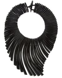 Monies - Black Cluster Necklace - Lyst