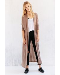 Silence + Noise | Brown Silence + Noise Layer-It-On Duster Cardigan Sweater | Lyst