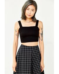 Silence + Noise - Black Alba Cropped Top - Lyst