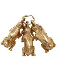 Annina Vogel | Metallic Vintage Gold Three Monkeys Charm | Lyst