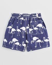 Vilebrequin | Blue Moorea Flamingo Swim Trunks for Men | Lyst