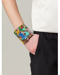 Stella Jean - Brown Cut-Out Tropical Cuff Bracelet - Lyst
