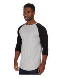 Timberland | Gray Felix Premium Jersey Raglan 3/4 Sleeve Crew Neck Scallop Bottom for Men | Lyst
