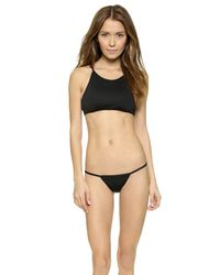 Minimale Animale | Black The Lucid String Bikini Bottoms - Dark Sea | Lyst