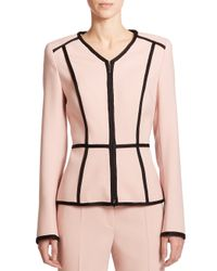 ESCADA | Pink Wool Peplum Blazer | Lyst