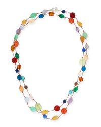 Margo Morrison - Multicolor Carnival Multi-stone Long Necklace - Lyst