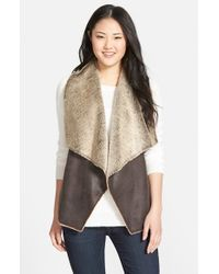 Marc New York - Brown 'Blake' Faux Shearling Vest - Lyst
