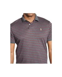 Polo Ralph Lauren | Gray Big And Tall Striped Pima Soft-touch Polo Shirt for Men | Lyst