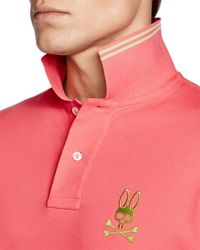 Psycho Bunny | Red Tall Bunny Polo - Regular Fit for Men | Lyst