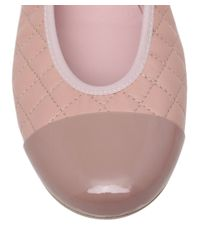 Pretty Ballerinas - Pink Shirley Quilted Leather Ballet Flats - Lyst