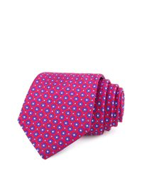 Ted Baker | Red Dots And Flowers Classic Tie for Men | Lyst