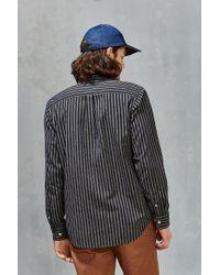 Obey | Gray Holmes Jaspe Stripe Button-down Shirt for Men | Lyst