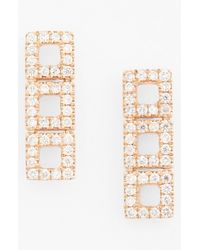 Dana Rebecca | Metallic 'allison Joy' Diamond Drop Earrings | Lyst
