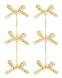 Tuleste | Metallic 3-tier Bow Earrings | Lyst