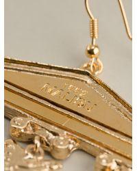 Malibu 1992 - Metallic Column Detail Earrings - Lyst