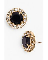 kate spade new york | Black 'secret Garden' Mixed Stone Stud Earrings - Jet/ Clear/ Gold | Lyst