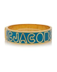 Marc By Marc Jacobs - Blue Gold-tone And Enamel Cuff - Lyst