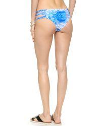 Mikoh Swimwear - Blue Velzyland Bikini Bottoms - Whitewater Fiji - Lyst