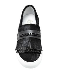 Joshua Sanders - Black Pony Leather Loafer Sneakers - Lyst