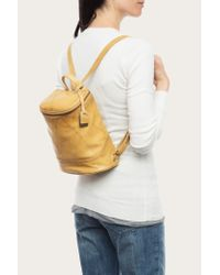 Frye | Yellow Campus Leather Bucket Backpack | Lyst