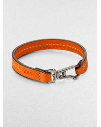 Tod's | Blue Marina Topstitched Leather Bracelet for Men | Lyst