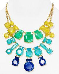 kate spade new york - Blue Cause A Stir Statement Necklace 15 - Lyst