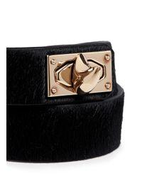 Givenchy | Black Double Wrap Shark Tooth Pony Hair Bracelet | Lyst
