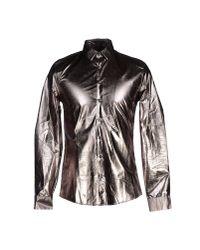 Les Hommes | Metallic Shirt for Men | Lyst