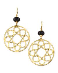 Syna - Metallic Mogul 18k Gold Large Black Spinel Earrings - Lyst