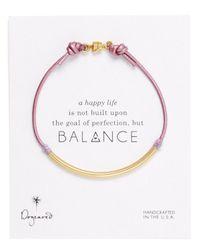 Dogeared - Purple Lilac Balance Tube Bracelet - Lyst