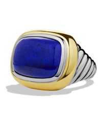 David Yurman | Blue Waverly Ring With Lapis Lazuli & Gold | Lyst