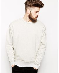 ASOS - Natural Oversized Sweatshirt for Men - Lyst