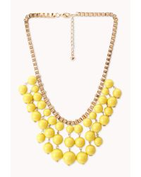 Forever 21 | Metallic Standout Beaded Bib Necklace | Lyst