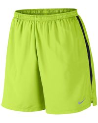"Nike - Green Men's 7"" Challenger Dri-fit Shorts for Men - Lyst"