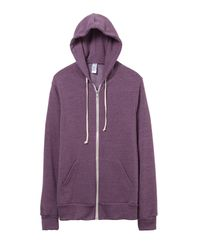 Alternative Apparel | Purple Rocky Eco-fleece Zip Hoodie | Lyst