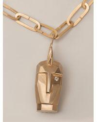 Kelly Wearstler - Metallic 'Head Trip' Pendant Necklace - Lyst