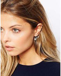 ASOS - Metallic Cherry Faux Pearl Swing Earrings - Lyst