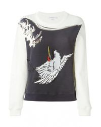 Carven | Multicolor Embroidered Cotton Sweatshirt | Lyst