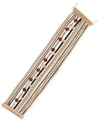 Lucky Brand | Metallic Gold-tone Multi-row Bracelet | Lyst