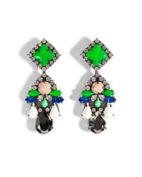 Shourouk | Green Square Earrings | Lyst