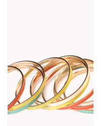 Forever 21 - Multicolored Lacquered Bangle Set - Lyst
