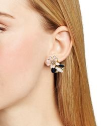 kate spade new york - Multicolor Glossy Petals Cluster Stud Earrings - Lyst