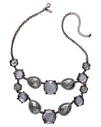 INC International Concepts | Brown Chocolate-tone Metallic Stone Two-row Bib Necklace | Lyst