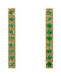 Jennifer Meyer | Green Long Bar Studs | Lyst