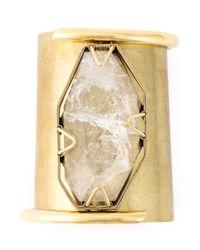 Lanvin | Metallic Transparent Stone Cuff | Lyst