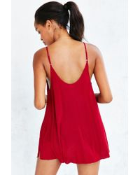 Silence + Noise - Red Swingy Zip-up Cami - Lyst