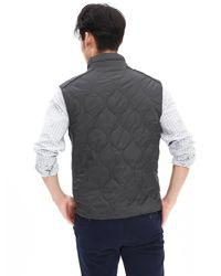 Banana Republic - Quilted Black Nylon Vest for Men - Lyst