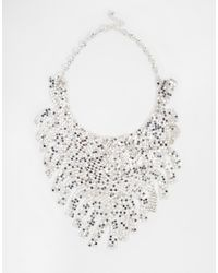 ASOS | Metallic Chainmail Fringe Necklace | Lyst